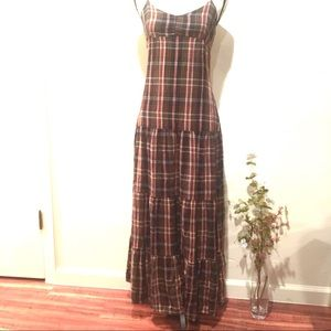 Heritage 1981 Plaid Cotton Maxi Dress